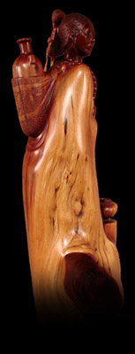 """Whispering Water"" Manzanita carving by Alex LX Lewis"